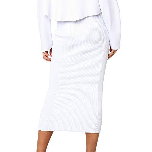 Falda corta para mujer, de verano, elástica, de moda, básica, de cintura alta, ajustada