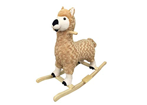 NEW Plush LLAMA Rocking Horse Animals Rocker on Wooden Rockers with Sound Effects