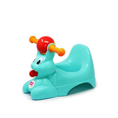 OKBABY Spidy - Vasino per Bambini con Seduta Ergonomica, a Forma di Coniglio - Turchese