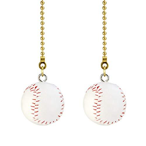 Mobestech Zugkette Baseballanhänger für Deckenbeleuchtung Lockert Sportventilatordekoration 2Pcs auf