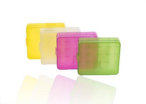 4X batteria Box batterie Scatola per Mignon AA o per Micro AAA trasparente batteria Box batterie titolare box batterie Box per 4X 18650batteria o CR 123A (Color)