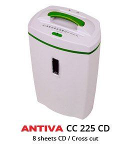 ANTIVA Cross Cut Paper Shredder - 8/9 Sheets Paper/Credit Cards/1CD