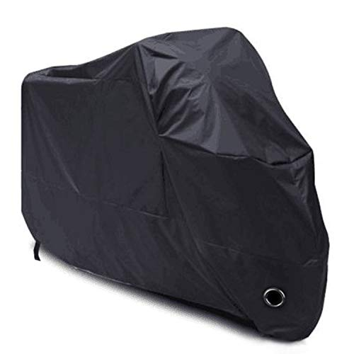 HANEU - Funda Protectora para Moto, Cubierta Impermeable de poliéster 190T para Moto, Scooter, Talla XL, Color del Producto: Negro