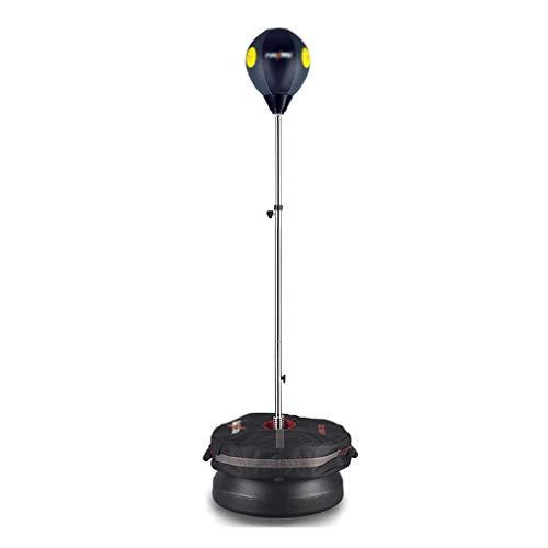 Sandsackzubehör Home Boxtrainingsausrüstung Cobra Bag Vertikaler Boxball Höhen- Und Geschwindigkeitsverstellung Geeignet Für Ebenen Boden (Color : Black, Size : 45 * 45 * 156cm)