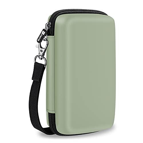 Fintie Carry Case for Kodak Mini 2 HD/Step Wireless Mobile Photo Mini Printer/Mini Shot 2 in 1 Camera & Printer- Hard EVA Shockproof Travel Bag with Inner Pocket/Removable Strap, Sage Green