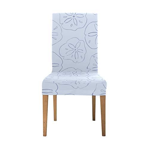 Stretch-Sitzbezüge für Esszimmerstühle Wunderschönes, niedliches, Romantisches Muschelschalen-Spandex-Stretch-Stuhlbezug Soft-Stretch-Stuhlbezüge Waschbarer Abnehmbarer Sitzbezug-Esszimmerstuhl für Z