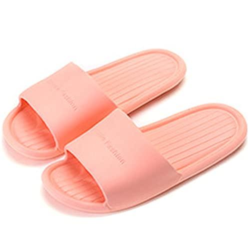 Damen/Herren Dusch-Sandalen Hausschuhe Leicht Rutschfest Sandaletten für den Innen- und Außenbereich Badeschuhe Pool, Pink - Rosa - Größe: 38/39 EU