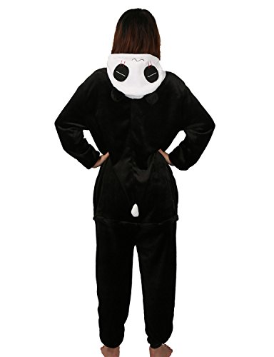 Panda Carnaval Disfraces Pijama Animales Disfraces Outfit Animales Dormir Traje Animales OneSize Sleepsuit con Capucha Adultos Unisex de Forro Polar Mono Disfraz (L, Panda-1)