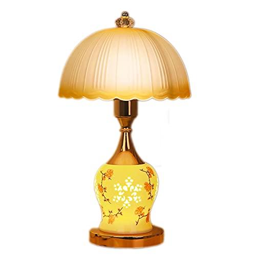 Lámpara De Mesa, Lámpara De Noche Cálida Y Romántica, Lámpara De Mesa De Vidrio, Con Interruptor De Doble Botón Para Controlar Las Fuentes De Luz Superior E Inferior (Color : A)