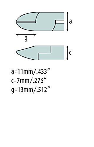 schmitz ESD pince coupante de cot/é 120mm t/ête ovale avec biseau 1201 EP 02