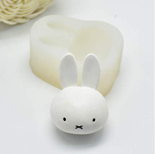 ANNIUP Miffy Kaninchen Hase Kuchenform Backform Silikon Form 3D Fondant Schokolade Silikonform Gebäck Dekoration Werkzeuge DIY Kuchen Küche Backen Form