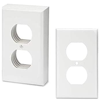 Bates- White Outlet Covers Wall Plates Pack of 12 Electrical Outlet Cover Plates Wall Plates for Outlets Electric Outlet Covers Wall Plate Cover Outlet Plate Plug Cover Outlet Covers Power