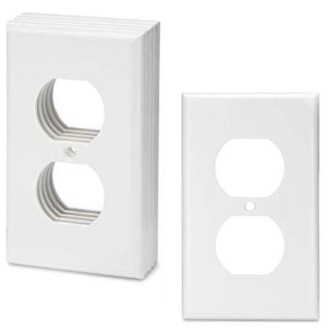 Bates- White Outlet Covers, Wall Plates, Pack of 12, Electrical Outlet Cover Plates, Wall Plates for Outlets, Electric Outlet Covers, Wall Plate Cover, Outlet Plate, Plug Cover, Outlet Covers, Power