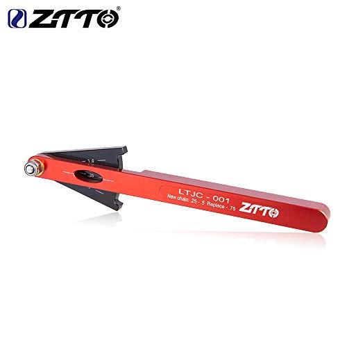 Alician ZTTO MTB Fahrrad Kettenverschleißanzeiger Werkzeug Kette Checker Kits Multifunktionale Fahrradkette Werkzeug Fahrrad Reparatur Werkzeug, rot
