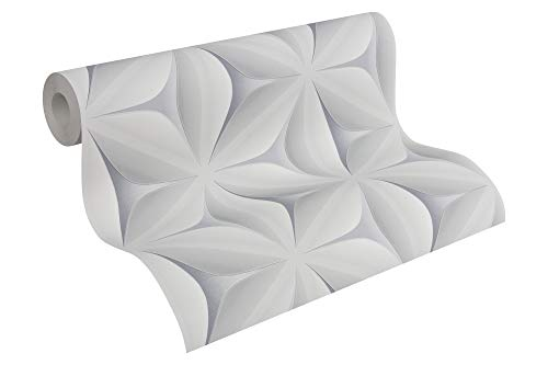A.S. Création Vliestapete Scandinavian 2 Tapete mit Stern Muster geometrisch grafisch 10,05 m x 0,53 m grau Made in Germany 960421 96042-1
