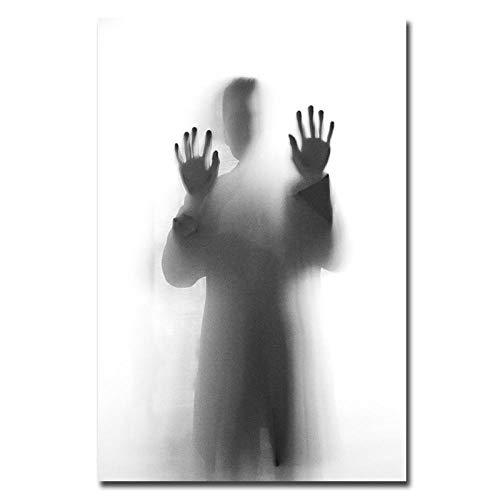 DIOPN afbeelding canvas poster muur kunstdruk schaduw in spiegel schilderij decoratie afbeelding Scandinavian Home Decor geen digitale lijst schilderij (frameloos 40 * 50,50 * 60 cm) 40 * 50 cm