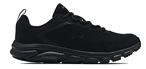 Under Armour mens Charged Assert 9 Running Shoe, Black (003 Black, 9.5 US