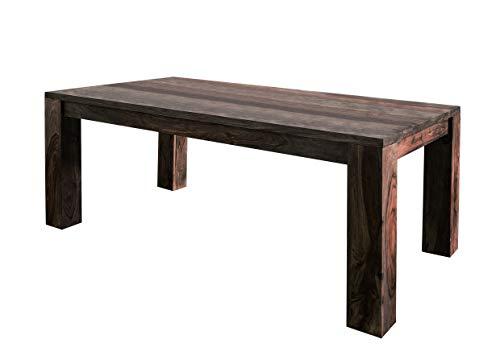 MASSIVMOEBEL24.DE Sheesham massiv Holz Möbel geölt Esstisch 240x100 Palisander massiv Möbel Massivholz Pure Sheesham Strong Grey #728