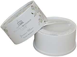 Woods of Windsor White Jasmine Body Dusting Powder with Puff for Women, 3.5 Ounce