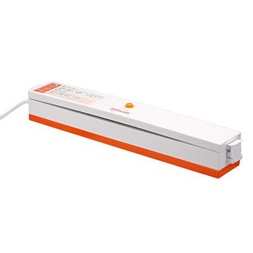 Aibecy Máquina de embalagem a vácuo para selagem de alimentos domésticos 220V seladora a vácuo de filme seladora embaladora a vácuo com sacos de 15 unidades