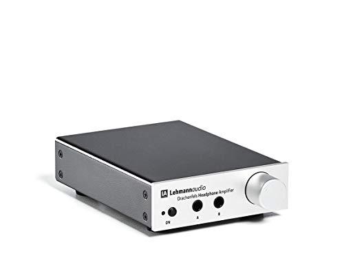 Lehmann Audio Drachenfels Kopfhörerverstärker mit USB-D/A-Wandler 32Bit/384kHz, Silber