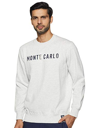 Monte Carlo Mens Full Sleeve Round Neck Sweatshirt (220050716-6_Grey_38)