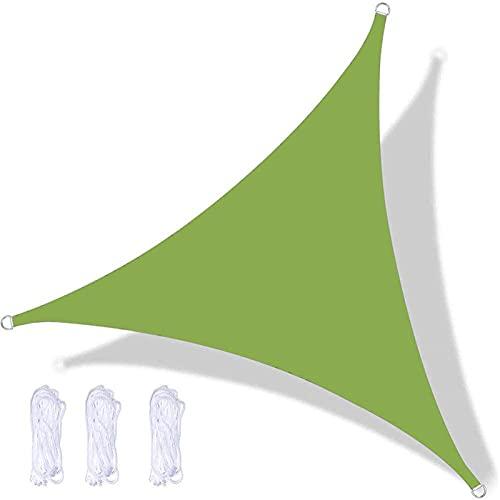 RURGLY 5x5x5m Toldo Vela de Sombra Rectangular, protección Rayos UV Impermeable para Patio, Exteriores, Jardín, Color Crema