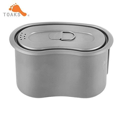 Maxi Gc-950 ultraléger Titanium Pot pliable militaire Lunch Box 950 ml avec poignée pliable