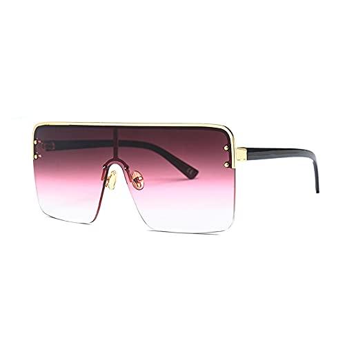 HAOMAO Diseñador de la marca Vintage Uv400 Mirror Gradient Square Gafas de sol polarizadas para mujeres y hombres 5