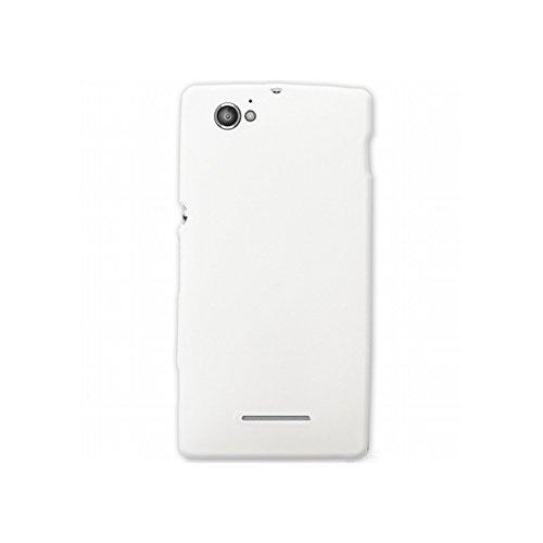 Mocca Design-Cover in Gel Satinata-Custodia per Sony Xperia M, Colore: Bianco