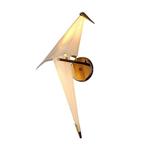 WOZUIMEI Lampara de Pared Nordic Posmoderno Geometría 3D Origami Bird PP Material Lámpara de Pared Habitación de Los Niños Creativos Salón Dormitorio Led Lámpara de Pared Decorativa, Izquierda