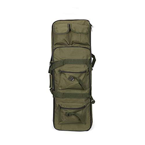 FOUOS 81cm Tactical Rifle Case, Military Rifle Storage Case, M4 Gun Bag Adjustable Shoulder Strap Gun Bag Pistol Airsoft Backpack for Hunting(Green)