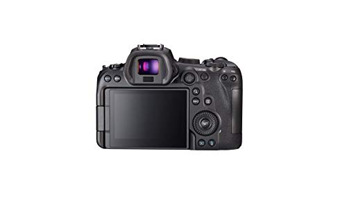 Canon EOS R6 Vollformat Systemkamera - Gehäuse (spiegellos, 20,1 MP, DIGIC X, 4K UHD, 5 Achsen Bildstabilisator, 7,5 cm vari angle LCD II, WLAN, Bluetooth, USB 3.1, Dual Pixel CMOS AF II), schwarz