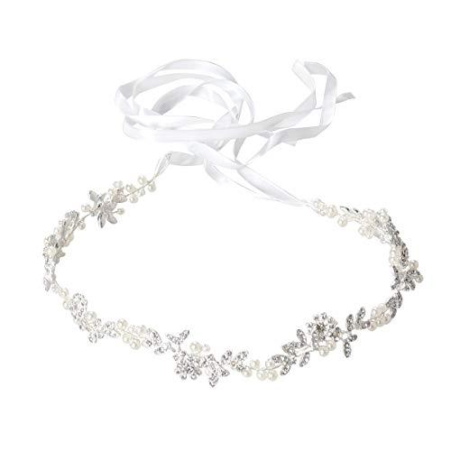 Retro foglie a forma di cerchietto fascia per capelli da sposa da sposa con perla artificiale fermacapelli per capelli fascia per capelli accessori per capelli accessori per abiti da donna
