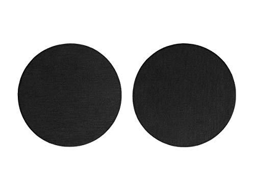 Universal Überzieher für Kopfhörer | Ohrpolster Schoner | Rund | Schwarz | Durchmesser: 95mm