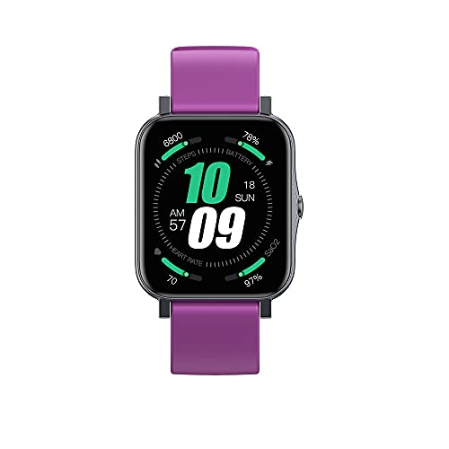 KaiLangDe Smartwatch Reloj Inteligente con Pulsómetro Cronómetros Calorías Monitor de Sueño Podómetro Monitores de Actividad Impermeable Reloj Deportivo para Android iOS Pulsera (Color : Purple)