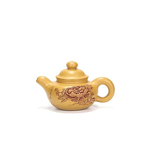 Teapot Handmade Amber Ore Segment Clay Teapot Kung Fu Tea Pot Blossoming Tea Sets (Color : Purple mud)