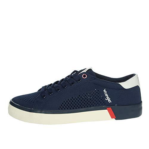 Wrangler - frisco men sneaker perforierter stoff - 42 - blu