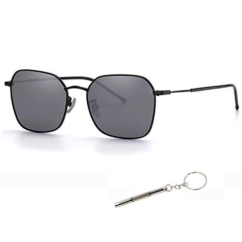 Gafas de sol polarizadas para hombres y mujeres gris claro espejo reflexión acabado sol 73424 B1