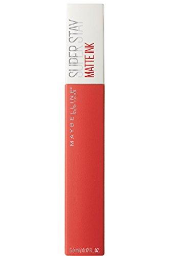 Maybelline New York Tinta Labbra SuperStay Matte Ink, Rossetto Matte Liquido a Lunga Tenuta, Heroine (25), 5 ml