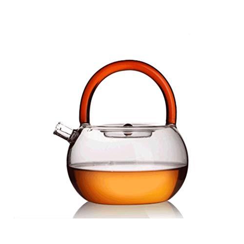 Théière avec perfuseurs pour thé en Vrac, Transparent, résistant aux Hautes températures, Quatre Couleurs Disponibles en Rouge, Jaune, Vert, Bleu-Violet JXLBB (Color : Purple)