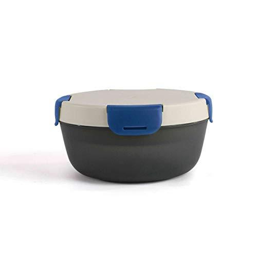 Lunchbox mit Kühlakku Robust Brotdose Frühstücksdose Kühlbox Rund (Frischhaltedose für Salat, Lunchdose, Essensbehälter 1200 ml)