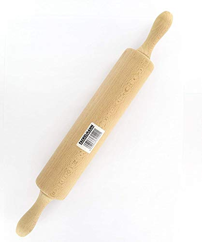Fackelmann 31540 - Rodillo de amasar de Madera, 25 x 6 centímetros