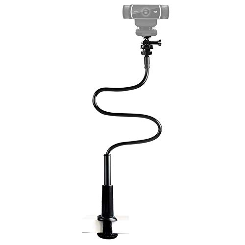 32 Inch Webcam Stand Camera Mount, Upgraded Flexible Gooseneck Stand Desk Mount Clamp for Logitech Webcam C930e C930 C920 C922x C922 Brio 4K C925e C615, Gopro Hero 8 7 6 5 4