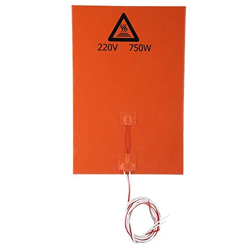 3D Printer Hot Heated Bed, 3D Printer Accessories Silicone Hot Heated Bed Heating Pad (3#)