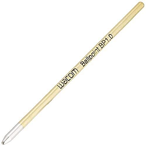 Wacom ACK22207 Cartuccia Refill Penna Ballpoint, Inchiostro Nero, 1 mm, per Bamboo Spark, Bamboo Folio, Slate e Intuos Pro Paper, 3 Pezzi, oro