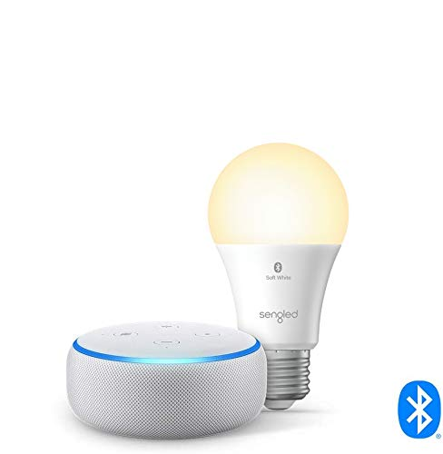 Echo Dot (3rd Gen) - Smart speaker with Alexa - Sandstone Sengled Bluetooth bulb