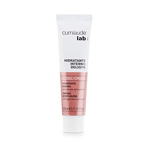CUMLAUDE Lab Deligyn - Gel Crema Hidratante Vaginal Interno Con Cánula Aplicadora, 30 ml, Vanilla