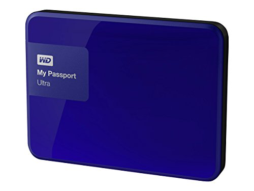WD 3TB Blue My Passport Ultra Portable External Hard Drive - USB 3.0 - WDBBKD0030BBL-NESN [Old Model]
