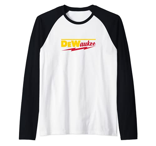 Divertida marca de herramientas eléctricas DeWaukee Camiseta Manga Raglan